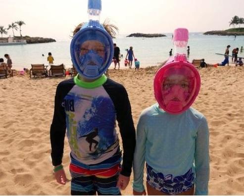 Kids Full Face Snorkel Masks. Safety and best models