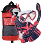 U.S. Divers Regal Kid Pro Mask Laguna Snorkel Lava Fins Set